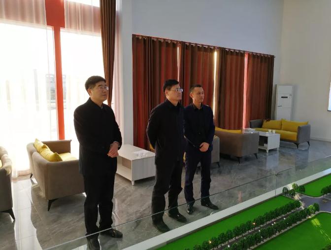 淄博市招商局局长钟群领导一行前来周村·连城智造小镇考察调研